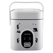 麦卓 Makejoy迷你多功能电饭煲MJ-6612分离内胆1.2升单身贵族学生用带提手蒸盒 MJ-6612B方形