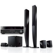 YAMAHA NS-PA40七件套(配375功放) 5.1声道立柱数字影院 音箱黑色,功放黑色