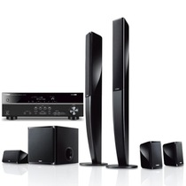 YAMAHA NS-PA40七件套(配375功放) 5.1声道立柱数字影院 音箱黑色,功放黑色产品图片主图