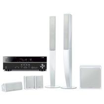 YAMAHA NS-PA40+RX-V377 家庭影院立柱七件套 音箱白色,功放黑色产品图片主图