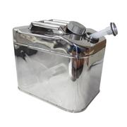 一唯 汽车摩托车备用油桶汽油桶汽车加油桶带加油管 纯正不锈钢 25升
