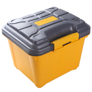 亿高 汽车收纳箱 车用后备箱储物箱 车载整理箱 置物箱 塑料工具箱子 芒果黄 EK-480 40L