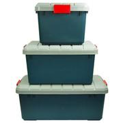 沃特斯 车载储物箱 汽车收纳箱 后备车用整理箱 高强加厚 推荐-限量版墨绿 RV-600B中号*绿色