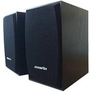 杰科瑞 JS-1200 黑檀木色 2.0全木质弧形网面 多媒体低音炮 全兼容 完美音色书架音箱