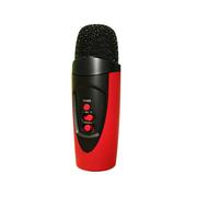 YEMEKE 适用于卡拉ok随身话筒唱吧专用麦克风苹果三星手机k歌电脑通用电容麦话筒 红色