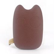 风彩 9000毫安龙猫移动电源 双USB接口 iphone6/6plus安卓通用充电宝 复古褐色