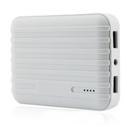 风彩 行李箱款大容量移动电源/USB接口手机平板通用充电宝 白色 7200毫安