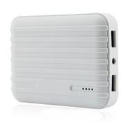 风彩 行李箱款大容量移动电源/USB接口手机平板通用充电宝 白色 10400毫安