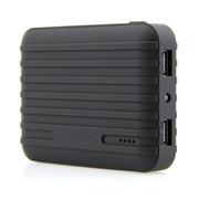 风彩 行李箱款大容量移动电源/USB接口手机平板通用充电宝 黑色 10400毫安