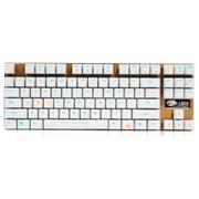 达尔优 机械师合金版 87键背光机械键盘 青轴版 白色