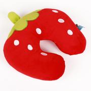 阿布熊 汽车头枕 靠枕 靠垫多功能护颈 抱枕 U型枕 午睡枕  卡通颈枕 草莓