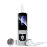 爱国者 月光宝盒直插式MP3 JD21 4G 播放器 U盘 录音笔 FM收音 银色 官方标配+赠送充电器