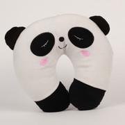 阿布熊 汽车头枕 靠枕 靠垫多功能护颈 抱枕 U型枕 午睡枕  卡通颈枕 熊猫