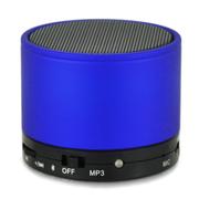 YEMEKE 无线蓝牙音箱 低音炮便携 迷你光版插卡音箱台式机电脑音响可接听电话 蓝色