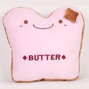 阿布熊 汽车行车办公家居靠垫 抱枕 腰靠 靠枕 午睡枕头 BUTTER抱枕 黄油面包粉色