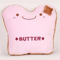阿布熊 汽车行车办公家居靠垫 抱枕 腰靠 靠枕 午睡枕头 BUTTER抱枕 黄油面包粉色产品图片主图