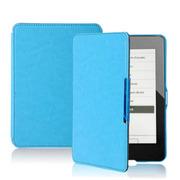 品怡 疯马带磁扣系列皮套 适用于2014new kindle6/kindle499保护套 天蓝色