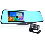 WAYTRIP A12 后视镜行车记录仪触屏安卓智能系统 凯立德导航WIFI一体机 倒车影 标配+16G高速卡