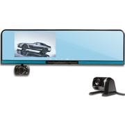 星凯越 XS60 行车记录仪高清广角夜视双镜头后视镜式4.3寸光学蓝循环录制导航一体机 双镜头标配+8G卡
