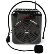 酷道 C3扩音器 教学腰挂大功率教师导游插卡音箱 小蜜蜂扩音机 收音机 音响 黑色