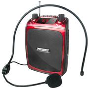 酷道 C1扩音器小蜜蜂教学导游扩音机5W大功率插卡音响便携音箱收音机低音炮 红色