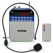 酷道 C2扩音器 数字点歌教学腰挂教师会议扩音机音响 插卡便携音箱 老人收音机 蓝色