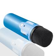 酷道 K2手机唱吧麦克风 电脑K歌YY抢麦专用电容麦克风 扩音录音设备 随身话筒 蓝色