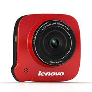 联想 V35行车记录仪 1080P真高清广角停车监控 热情红色+16G卡