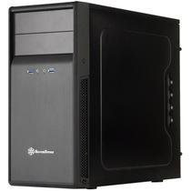 银欣 PS09B 精准9 黑色版机箱(支持长显卡/侧进风静音/静音棉/内部全黑化)产品图片主图