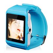 美创 智能蓝牙手表手环手机高清触屏轻松拍照 适用于苹果iphone6 plus/5S 蓝色