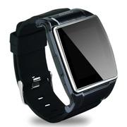 美创 智能蓝牙手表手机手环高清触屏式 适用于苹果iphone6 plus/5S 枪色