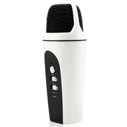 apphome 手机唱吧麦克风 电脑K歌YY抢麦专用电容麦克风 扩音录音设备 随身话筒 安卓版白色
