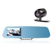 FAC HD-709(后视镜行车记录仪)4.3寸1080P夜视1200万 双镜头记录仪 标配+16G卡+24小时暗线 719前后双镜头