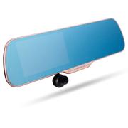 车之秀品 力驰LICHI进口车载行车记录仪后视镜行车记录仪双镜头5英寸大屏高清W53-D 玫瑰金裸机+32G+降压线