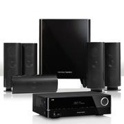 哈曼卡顿 HKTS 60BQ+AVR 151 5.1家庭影院套装(含功放机)黑色