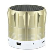 YEMEKE 台式机电脑音响 无线蓝牙音箱 便携式插卡小音箱 电脑音箱低音炮 金色
