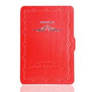 品怡 花纹商务精典皮套 适用于2014new kindle6/kindle499保护套 红色