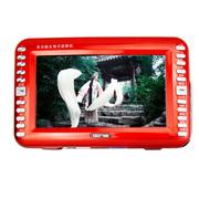 先科 13寸老人看戏机KK611 1080P高清视频播放器听戏机插卡收音机电视扩音器广场音箱 红色 标配+16G高清视频下载卡