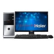 海尔 极光D3-Z583 台式电脑(G3250 2G 500G 键鼠 双PCI插槽 COM串口)办公电脑