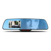 盛贝 蓝镜曲面车载后视镜行车记录仪双镜头 高清广角夜视 1080P循环录影 汽车黑匣子 附8G卡