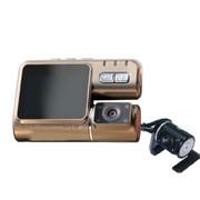 动牌 迷你车载行车记录仪 超高清广角夜视1200万像素停车监控 旗舰版双镜头+16G卡