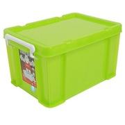 禧天龙 透明环保塑料收纳箱 抗压储物箱 特厚整理箱(果冻绿20L)jd1401