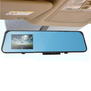 途伴 D200蓝镜4.3寸防炫目后视镜行车记录仪高清广角红外夜视监控 宽屏后视镜+行车记录仪16G版