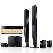 YAMAHA NS-PA40+RX-V477 5.1声道立柱家庭影院套装 音箱黑色,功放金色