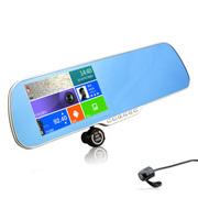 达乐 K5 行车记录仪 三合一安卓后视镜行车记录仪GPS导航一体机 双镜头高清夜视版 双镜头高清版+64G卡