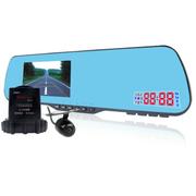 凯迪龙 E303 行车记录仪 电子狗一体机 后视镜双镜头 高清1080P限速超速提醒广角夜视 303-双镜头-电子狗-无卡