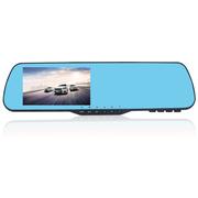 凯迪龙 E303 行车记录仪 电子狗一体机 后视镜双镜头 高清1080P限速超速提醒广角夜视 E301-单镜头-蓝镜-32G