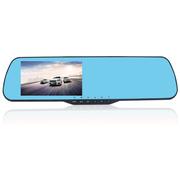 凯迪龙 E303 行车记录仪 电子狗一体机 后视镜双镜头 高清1080P限速超速提醒广角夜视 E301-单镜头-蓝镜-无卡