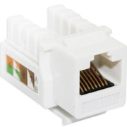 IT-CEO V7RJ45-5 RJ-45 超五类工程镀金版 网络信息模块 超五类模块 网络模块 带防尘盖 白色