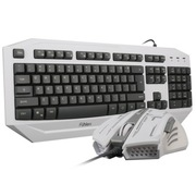 富勒 磐石黑金 炫光游戏键鼠套装 白色